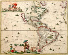 Antique map of America by van Schagen  free to print