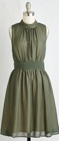 mini dot pleated dress