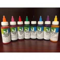 Chefmaster Liquid Candy Colors / 2.2 Oz  Used to color chocolate, candy centers, or hard candy  • Oil based, slowly add more color, one drop at a time, until desired shade is reached • By adding just a small amount of this concentrated formula you can achieve the exact shade you want without watering down your product • Certified kosher by united states k of los Angeles, California; Rabbi Yehudah Bukspan, supervisor • Manufactured in an AIB (American institute of baking) approved facilit...