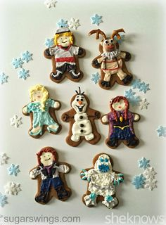 Sugar Swings! Serve Some: Disney's Frozen Characters as Gingerbread Men