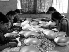 Women grading cashews in Gokarna, Karnataka