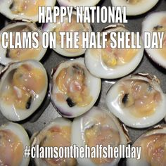March 2014 - National Clams On The Half Shell Day Clams, Shells, March, Breakfast, Day, Food, Seashells, Morning Coffee, Meal
