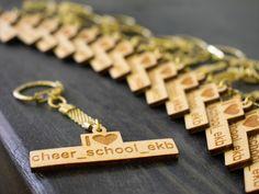Брелки для всей команды Cheer, Personalized Items, School, Humor, Cheerleading, Cheer Athletics