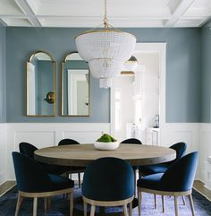 Blue Dining Space