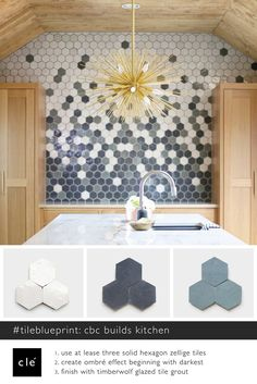 Shop at clé tile for contemporary terracotta moroccan tiles to match your style & budget. transform your space with beautiful zellige tiles and terracotta moroccan tiles. Hexagon Wall Tiles, Hexagon Backsplash, Geometric Tiles, Kitchen Tiles, Kitchen Flooring, Kitchen Design, Hexagone Tile, Tile Layout, Bathroom Interior Design
