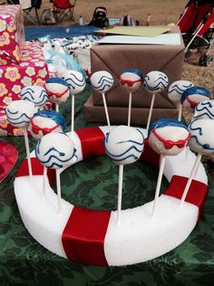 These Are The Centerpieces I Did For Kaitlyns Swim Banquet Swimming Pinterest Swim The O