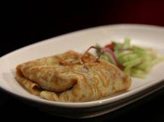 thai pork stuffed omelettes