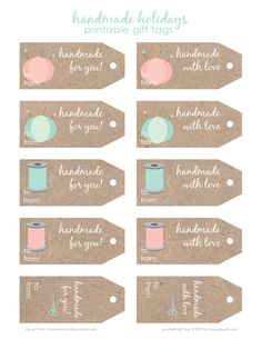 "Labels ""Handmade""zum ausdrucken http://imaginegnats.com/free-printable-handmade-holidays-gift-tags-plus-giveaway/"