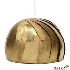 Brass Aperture Pendant Lamp Large Gold