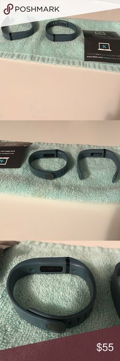 Fitbit bracelet Blue Fitbit bracelet ( including 2 bands and charger) I do still own the box if that is wanted fitbit Jewelry Bracelets