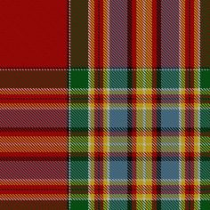 the Clan Chattan tartan sett, as recorded in the Registry.  Dated 1816