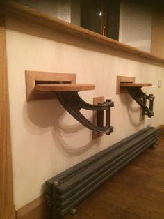 Antique Iron Machine Age Swing Arm Stools Brackets