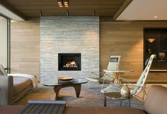 Stunning feature wall cladding around a fireplace