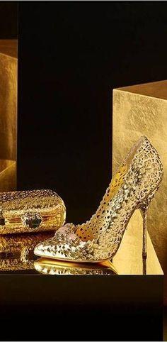 Sergio Rossi Gold |  my clutch bags