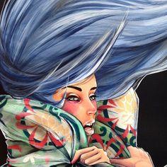 Artist :Lucy Lucy Urban Street Art, Best Street Art, Graffiti Murals, Drawing Sketches, Drawings, Street Artists, Types Of Art, Medium Art, Lovers Art