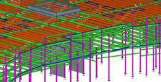 Tekla precast concrete detailing, Tekla precast panel, shop drawing, stair & handrail detailing, Building Information model