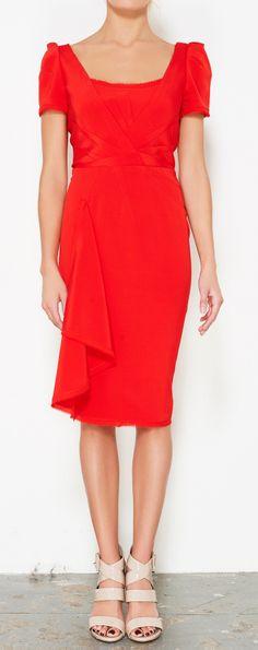 Scarlet pencil dress