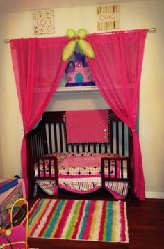 Toddler bed in closet.