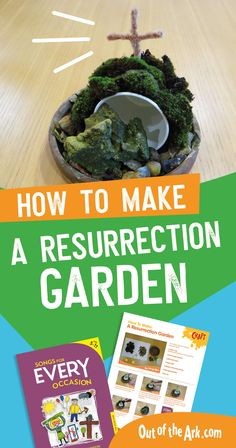 Easter Songs for Schools, Crafts for Easter, Music for Kids, Out of the Ark Music crafts eyfs Make a Resurrection Garden