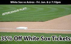 35% off Chicago White Sox Tickets vs Houston Astros Fri. Jun. 8 @ 7:10pm Fireworks Night