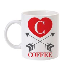 Personalized Straight & True Arrow Mug Red - show the world who/what you love!
