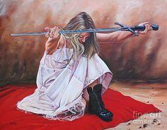 Jesus Christ Painting - The Entrusted Sword by Ilse Kleyn