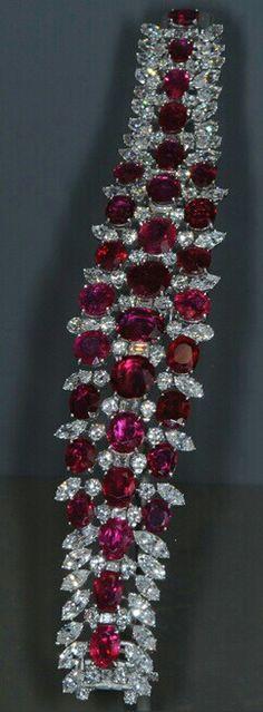 Diamonds and Ruby Bracelet