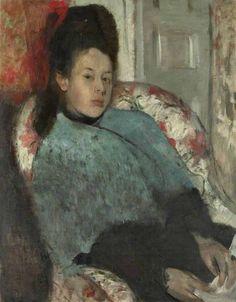 Edgar Degas (1834-1917) Portrait of Elena Carafa (1875) Degas was een Franse impressionistisch kunstschilder en beeldhouwer.