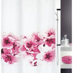 """Der Duschvorhang """"Amanda"""" verbreitet in Ihrem Bad pure Harmonie! Er ist Weiß und mit einem feinen Blumenmuster in Pink bedruckt. Der florale Vorhang aus Polyester hat eine Breite von ca. 180 cm und eine Höhe von ca. 200 cm. Dieser blickdichte Duschvorhang begeistert Sie mit Natürlichkeit!"""