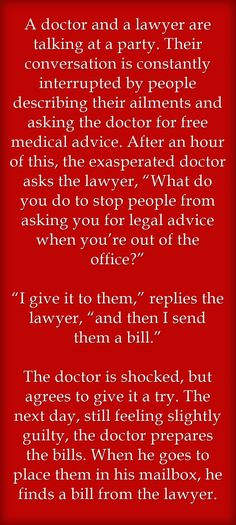 doctor + lawyer Jokes for Toastmasters