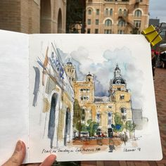 tephanie Bower (@stephanieabower) в Instagram: «San Antonio. Another sketch from The Pearl, didn't quite finish this one.…» #aquarell #art #painting #watercolor #watercolour #sketch #paint #drawing #sketching #sketchbook #travelbook #archisketcher #sketchaday #sketchwalker #sketchcollector #traveldiary #topcreator #usk #urbansketch #urbansketchers #скетчбук #скетч #скетчинг #pleinair #aquarelle #watercolorsketch #usk #architecture #painting #illustration Moleskine Sketchbook, Travel Sketchbook, Sketchbooks, Watercolor Drawing, Watercolor Landscape, Floral Illustrations, Illustration Art, Gear Art, Sketch A Day