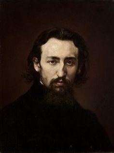 Portret Jana Matejki w młodzieńczym wieku, Izydor Jabłoński, 1875 rok.  ortret przedstawia młodego Jana Matejkę ujętego w popiersiu z głową zwróconą wprost. Matejko ma ciemne, dłuższe, zaczesane do tyłu włosy oraz brodę i wąsy. Uwagę przyciągają brązowe, poważne oczy sportretowanego oraz krzywy, złamany w młodości nos.   #listopad #movember #wąsy #moustache #november