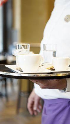 Kaffee service im Restaurant Glogge Egge.