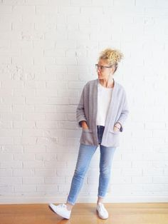 Tokyo Jacket Pattern (Sizes – this relaxed jacket features three-quarter length m. Jacket Pattern, Top Pattern, Clothing Patterns, Sewing Patterns, Sewing Ideas, Tile Patterns, Sewing Projects, Sewing Labels, Tile Layout