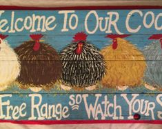Chicken Coop Sign Large Rustic wood by CountryRusticSigns Chicken Coop Decor, Chicken Coop Signs, Chicken Coops, Chicken Painting, Chicken Art, The Sky Is Falling, Do It Yourself Wedding, Raising Chickens, Keeping Chickens