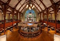 Grace Restaurant and Bar at 15 Chestnut Street - Gothic Revival style.