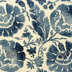 "GP & J Baker ""Poppies"" Fabric Drapery Panels"