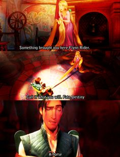 my favorite part from tangled besides the scene where Flynn and Rapunzel are in the boat together singing. :)
