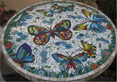 Butterflies Mosaic Table