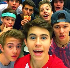 magcon, nash grier, and taylor caniff