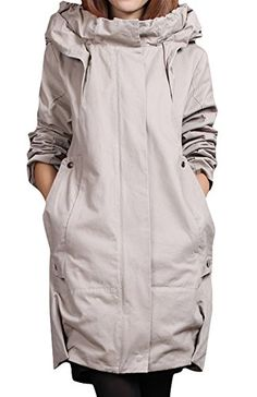 Ace Womens Winter Midlength Hooded Cottonpadded Coats Jackets 810 offwhite *** You can find more details by visiting the image link.