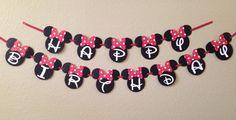 Banner de cumpleaños de Minnie Mouse Minnie Mouse Party