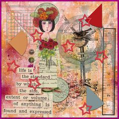 Art journal layout by jaedde. {Credits: Tangie Baxter, Rebecca McMeen}