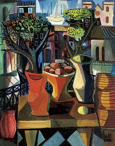 DI CAVALCANTI, Emiliano Sacada Brasileira óleo s/ tela, ass. e dat. 1958 inf. dir. 91 x 71,5 cm