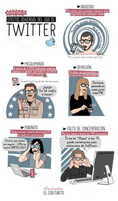 #Infografia #RedesSociales ¡CUIDADO! Efectos adversos por el uso de twitter. #TAVnews