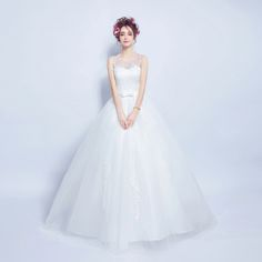 Angel Wedding Dress Marriage Bride Bridal Gown Vestido De Noiva 2017 Lace, flowers, perspective, backless 612