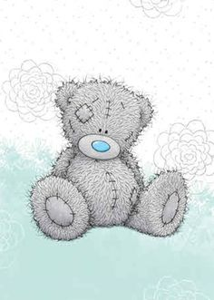 Teddy Bear Quotes, Teddy Bear Images, Teddy Bear Pictures, Family Day Quotes, Grey Teddy Bear, Doll Face Paint, Bear Paintings, Baby Posters, Blue Nose Friends