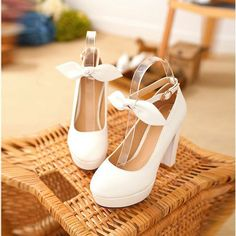 Sweet Bowknot 11CM High-Heeled Buckles Shoes