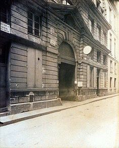 Hôtel d'Argenson dit Chancellerie d'Orléans (1704-1705) 19, rue des Bons-Enfants Paris 75001. Architecte : Germain Boffrand. Photographie d'Eugène Atget en 1905.  Détruit en 1923.