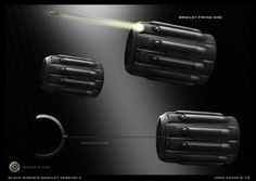 """Conceptual illustrator John Eaves (""""Star Trek Into Darkness"""") updated his website with art that he created for Captain Ameria: The Winter Soldier. See weapons designed for the Nick Fury car chase scene as well as Black Widow's bracelets. Weapon Concept Art, Armor Concept, Sci Fi Weapons, Fantasy Weapons, Winter Soldier, Ninja Armor, Ps Wallpaper, Captain America Winter, Science Fiction"""